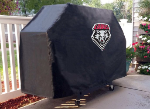 New Mexico Grill Cover with Lobos Logo on Black Vinyl