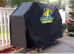 Northern Michigan Grill Cover with Wildcats Logo on Black Vinyl