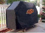 Oklahoma State Grill Cover with Cowboys Logo on Black Vinyl