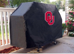 Oklahoma Grill Cover with Sooners Logo on Black Vinyl