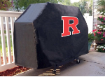 Rutgers Grill Cover with Scarlet Knights Logo on Black Vinyl
