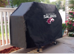 Southern Illinois Grill Cover with Salukis Logo on Black Vinyl