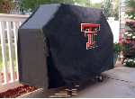 Texas Tech Grill Cover with Red Raiders Logo on Black Vinyl