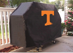 Tennessee Grill Cover with Volunteers Logo on Black Vinyl