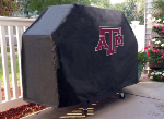 Texas A&M Grill Cover with Aggies Logo on Black Vinyl