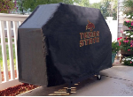 Texas State Grill Cover with Bobcats Logo on Black Vinyl