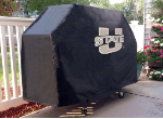 Utah State Grill Cover with Aggies Logo on Black Vinyl