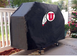 Utah Grill Cover with Utes Logo on Black Vinyl