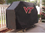 Virginia Tech Grill Cover with Hokies Logo on Black Vinyl