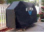Villanova Grill Cover with Wildcats Logo on Black Vinyl