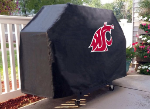Washington State Grill Cover with Cougars Logo on Black Vinyl