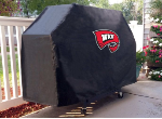 Western Kentucky Grill Cover with Hilltoppers Logo on Black Vinyl