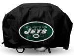 New York Grill Cover with Jets Logo on Black Vinyl - Economy