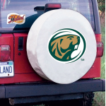 Bermidji State Tire Cover with Beavers Logo on White Vinyl