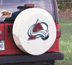 Colorado Tire Cover with Avalanche Logo on White Vinyl