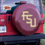 Florida State Tire Cover with Seminoles 'FSU' Logo on Burgundy