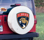 Florida Tire Cover with Panthers Logo on White Vinyl