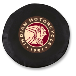 Indian Motorcycle Tire Cover on Black Vinyl