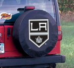 Los Angeles Tire Cover with Kings Logo on Black Vinyl