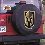 Las Vegas Tire Cover with Golden Knights Logo on Black Vinyl