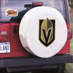 Las Vegas Tire Cover with Golden Knights Logo on White Vinyl