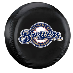 Milwaukee Tire Cover with Brewers Logo on Black - Standard