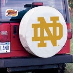 Notre Dame Tire Cover with Fighting Irish ND on White