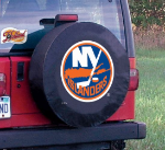 New York Tire Cover with Islanders Logo on Black Vinyl