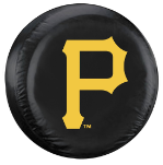 Pittsburgh Tire Cover with Pirates Logo on Black - Standard