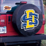 South Dakota State Tire Cover with Jackrabbits Logo on Black