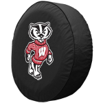 Wisconsin Tire Cover with Badgers Logo on Black Vinyl