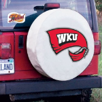 Western Kentucky Tire Cover with Hilltoppers Logo on White