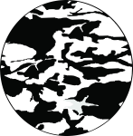 Camouflage Tire Cover on Black Vinyl -Black and White