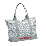 University of Arkansas Ikat Tote w/ Officially Licensed Team Logo