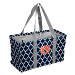 Auburn Tigers Quatrefoil Picnic Caddy w/ Officially Licensed Logo