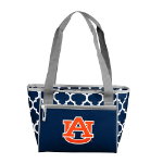Auburn University Quatrefoil 16-Can Cooler w/ Officially Licensed Team Logo