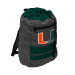 Miami Hurricanes Journey Backsack w/ Officially Licensed Team Logo