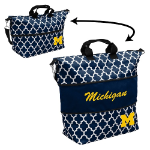 Michigan Wolverines Quatrefoil Expandable Tote w/ Officially Licensed Logo
