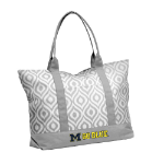 University of Michigan Ikat Tote w/ Officially Licensed Team Logo