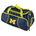 University of Michigan Athletic Duffel Bag w/ Officially Licensed Team Logo