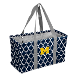 Michigan Wolverines Quatrefoil Picnic Caddy w/ Officially Licensed Logo
