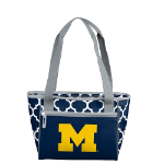 University of Michigan Quatrefoil 16-Can Cooler w/ Officially Licensed Team Logo