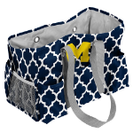 University of Michigan Quatrefoil Jr Caddy w/ Officially Licensed Logo