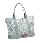 Mississippi State University Ikat Tote w/ Officially Licensed Team Logo