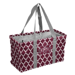 Mississippi State Bulldogs Quatrefoil Picnic Caddy w/ Officially Licensed Logo