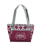 Mississippi State University Quatrefoil 16-Can Cooler w/ Officially Licensed Team Logo