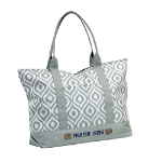 University of Notre Dame Ikat Tote w/ Officially Licensed Team Logo