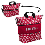 Ohio State Buckeyes Quatrefoil Expandable Tote w/ Officially Licensed Logo