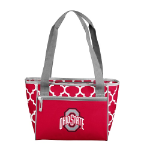 Ohio State University Quatrefoil 16-Can Cooler w/ Officially Licensed Team Logo