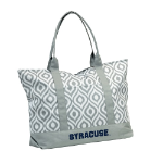 Syracuse University Ikat Tote w/ Officially Licensed Team Logo